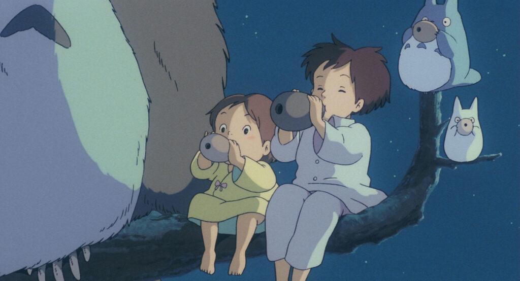 Satsu and May in Tonari no Totoro